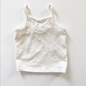 H&M White Lace Tank 4-6 Months
